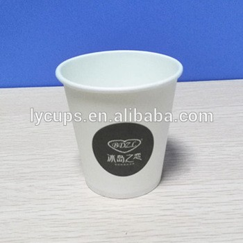 High grade food paper with PE coated Material Single Wall Style Paper Cup