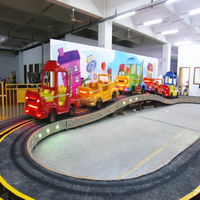 Factory Direct Supply Kids Amusement Rides Convoy Race Electric Track Train