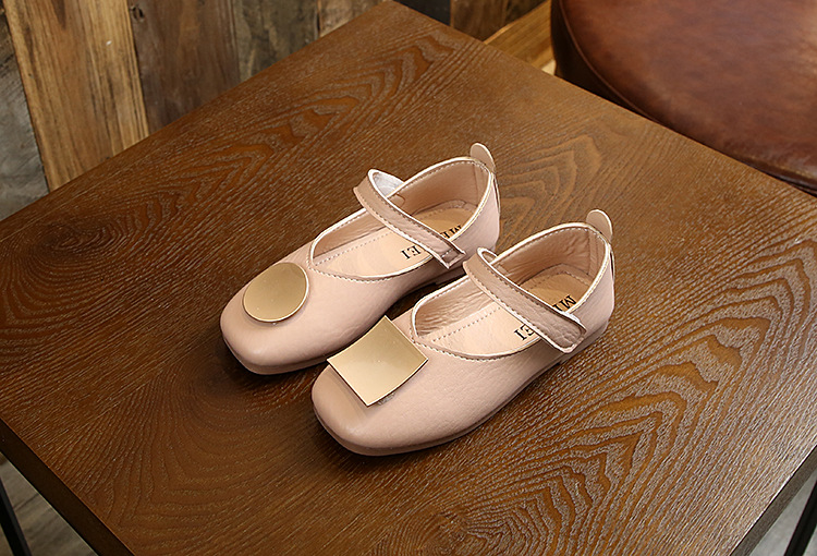 2019 spring and autumn new fashion girl peas shoes children's casual shoes soft bottom small single shoes