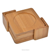 Bamboo coasters set, bamboo hot insulation mat with round groove