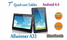 Hot selling Capacitive Touch Screen Android 4.4 7 inch tablet pc Allwinner A33,shenzhen tablet pc