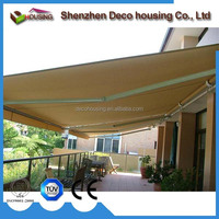 Fashionable retractable awning mechanism
