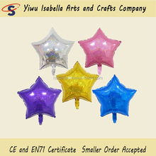 New design 18inch star shaped printed Happy birthday foil Aluminum balloon for birthday party