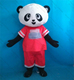 Life size plush costume panda adulte with clear visual adult panda head costume