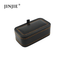 CBO050 New small leather PU cufflink jewelry box Classical Fashion Gift Boxes For Men (only box)