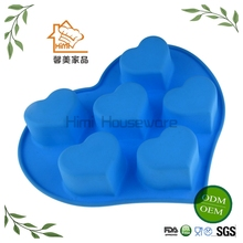 HIMI Food-grade silicone human heart cake mold and moon cake mold for cake decorating