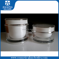 Cylinder acrylic jar for cosmetic container clear color for promotion