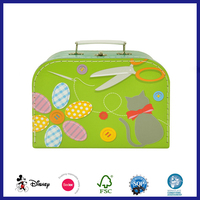 cardboard suitcase shape box with handle