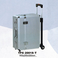 Professional Aluminum Flight Travel Camera Tool Case and boxes with Wheels and Telescopic handle
