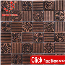 Hot sale square pattern resin mosaic art for wall decoration