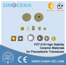 high stability ceramic materials for piezoelectric sensor PZT