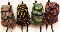 Wholesale Tie Dye Nepal Cotton Backpacks Multi Color Three Pocket