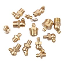 Straight 45degree 90degree all types brass grease nipple fitting in metric,BSP,NPT sizes
