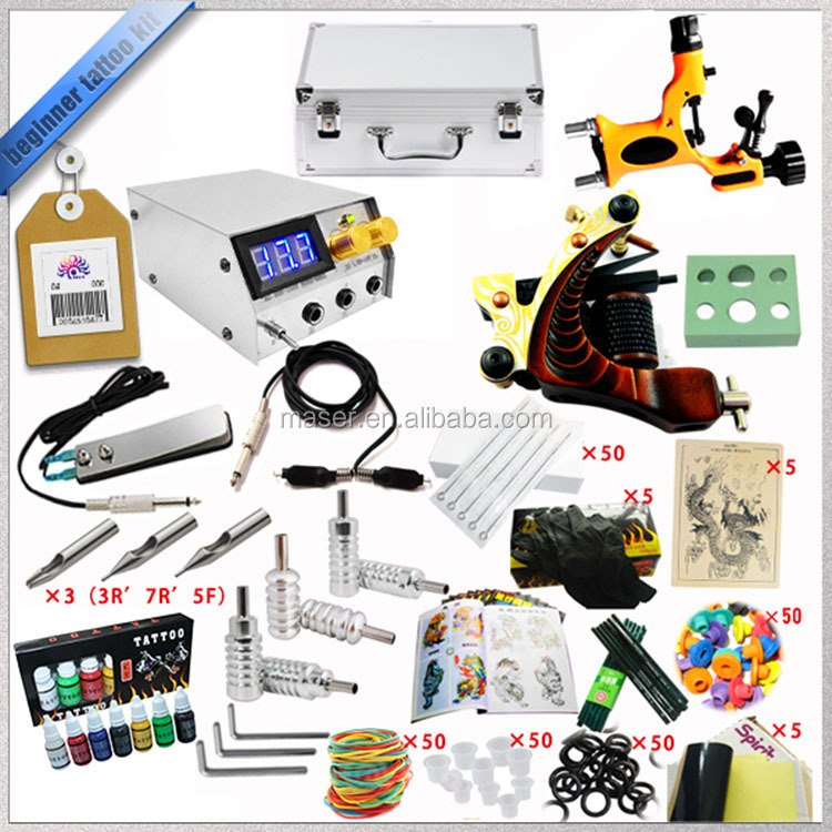 Professional dragonfly and cast tattoo machine kit, cheap complete tattoo kit for beginner