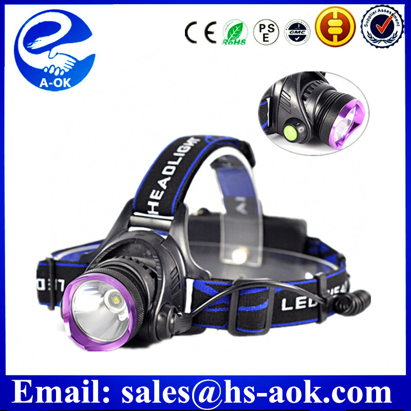 10 w plastic head lamp rechargeable ce certification