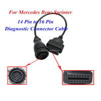 High quality 14 Pin to 16pin Diagnostic Plug OBD2 Adapter cable
