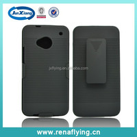 china wholesale belt clip holster combo case for HTC M7 mobile phone accessories