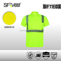 2016 new products EN ISO 20471 safety workwear hi vis shirt with pattern reflective tape