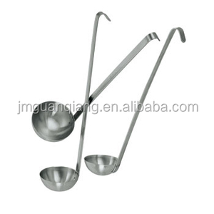 stainless steel kitchen utensils long handle two-piece cooking ladle soup ladle with hook