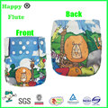 happy flute pocket diaper reusable washable cloth bamboo nappies digital print factory sale