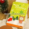 Merry christmas cartoon flip case for ipad mini 2
