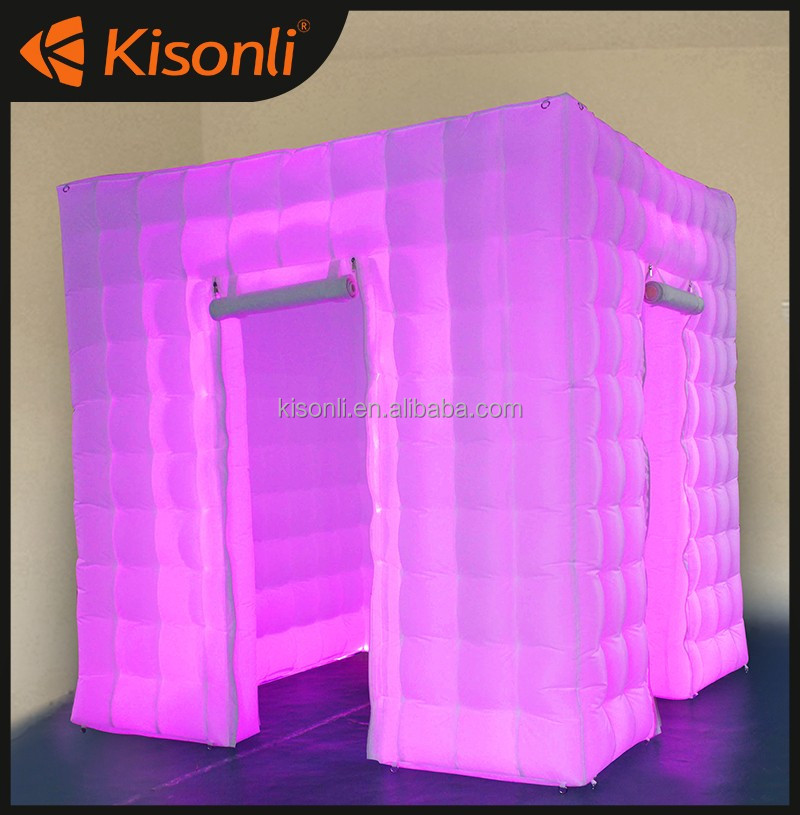 customize made of led wedding photo booth for event and party tent walls custom portable lighting cube inflatable photo booth