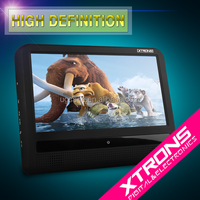 "Xtrons HD9T 9"" HD Digital TFT Touch Screen Ultra-thin Design Removable headrest dvd player for car"