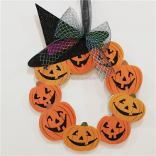 new design foam board halloween hanging pumpkin wreath decoration