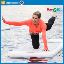 water floating inflatable yoga mats , air gym mat for yoga