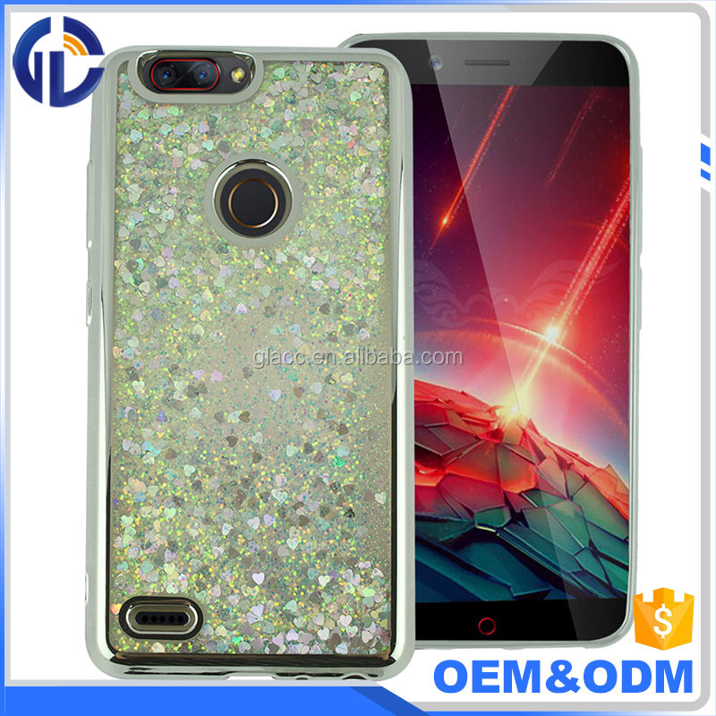 Dynamic Liquid quicksand case skin cover for ZTE sequoia, plating Tpu Moving liquid case