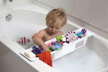 Bath Toy Organizer extendable size bathroom storage basket organizer storage holder and rack toy basket for bathtub
