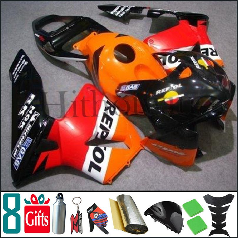 2005 2006 CBR600RR F5 REPSOL black white red Yellow For honda INJ Fairings Injection MOLDED Body Kit Fairing CBR 600 RR 2005