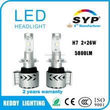 Wholesale auto parts 5800LM led car headlight, H7 H11 9005 9006 CreeS XHP50 car led , high power led car headlight