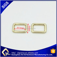 Wholesale custom metal square ring buckle for bag or shoes
