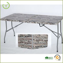 Camo suitcase folding table/Fold In Half Table, plastic foldable table