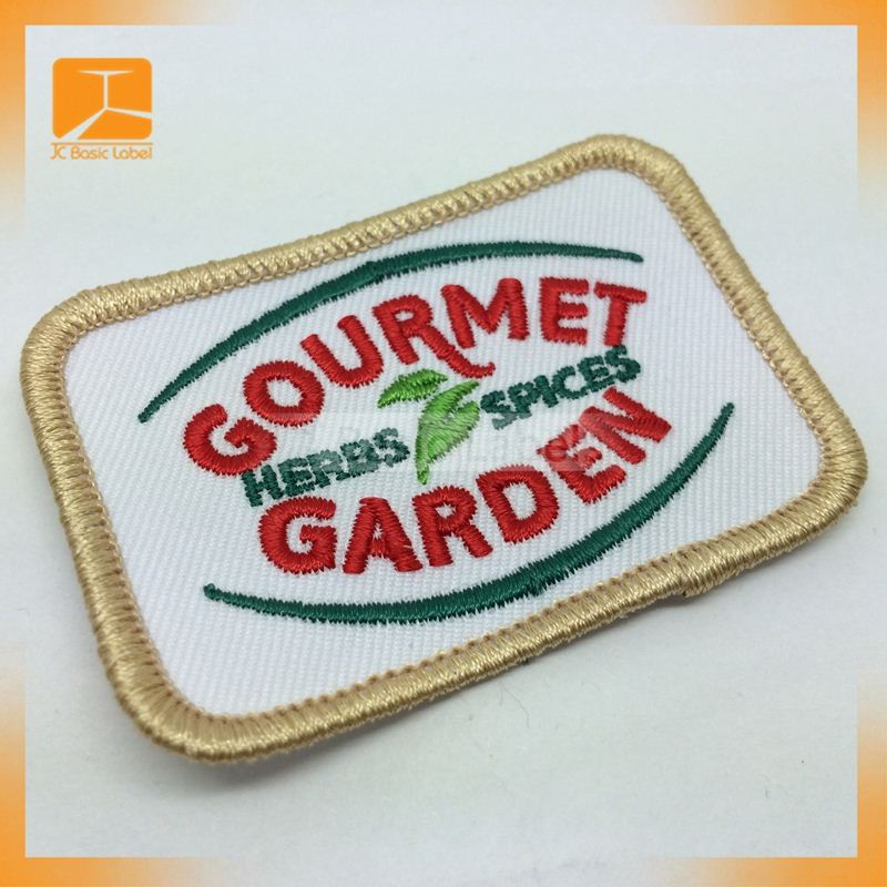 New design custom embroidered football patch fashion hand embroidery badge export