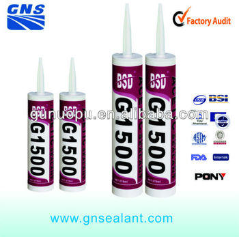 clear glass acetoxy sealant/high quality silicone sealant/a