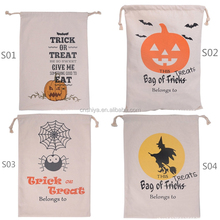 Newest Halloween bag spider pumpkin witch drawstring bag Halloween party candy bags