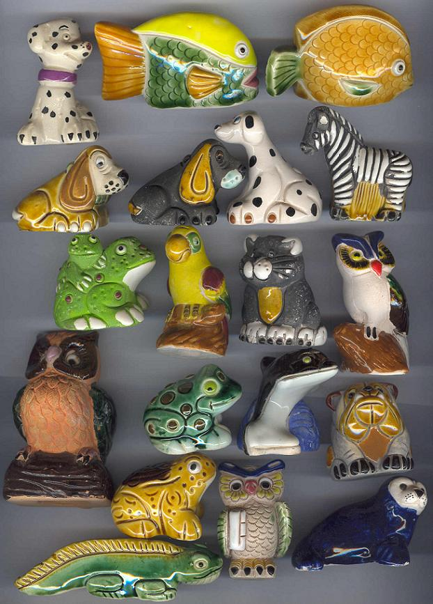 Handmade Ceramic Animals Figures