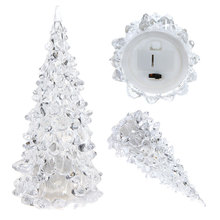 LED Lighting Cristmas Tree Decor Beautiful Mini Acrylic Icy Crystal Color Changing LED Lamp Light Decoration Christmas Tree Gift