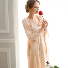 Fashion Two Pieces Orange Satin Cocktail Arab Bath Robe For Women Alibaba Store