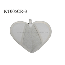 linyi wholesale market polyester printed heart shaped oven pot holder for pan handle