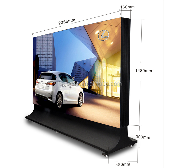 Aluminum Outdoor Led Advertising Board Profile For Metal