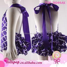 New arriving fashion kids princess wedding dresses purple quatrefoil baby wedding dress