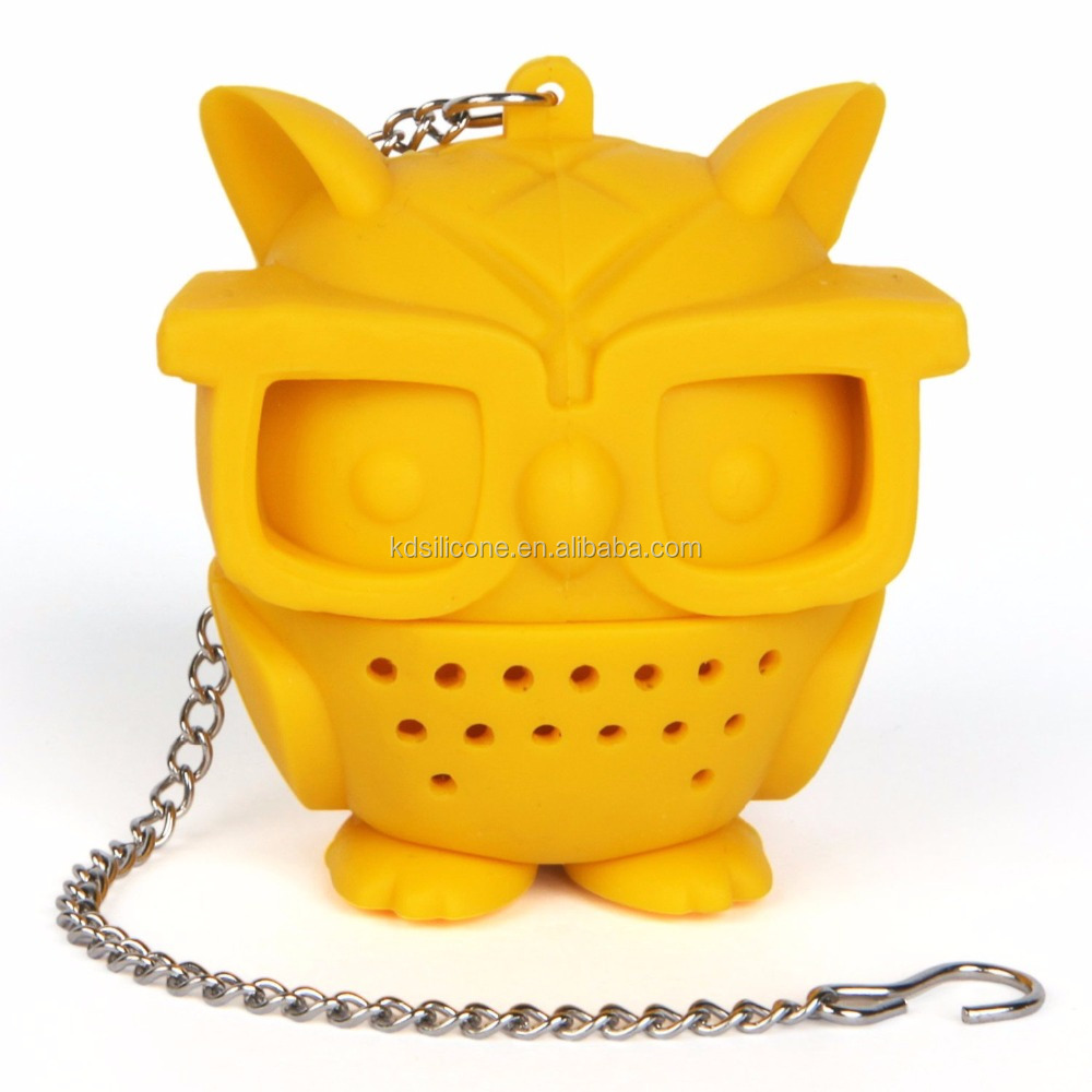 Teacher's Pet Owl Tea Infuser, Yellow
