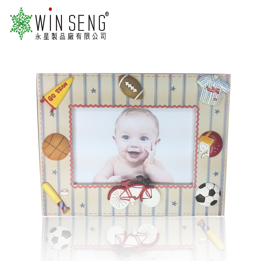Customized top popular handmade designs wooden baby photo frame for baby gift