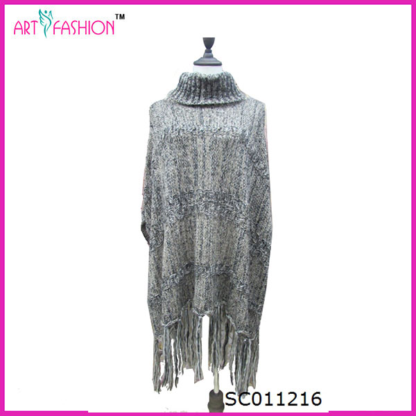Fashion Cold Weather Wear Women Use Gray Pashmina Shawl Scarf