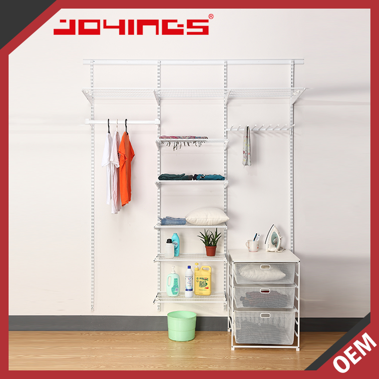 Wall Mounted Portable Metal Clothes Closet with Panel