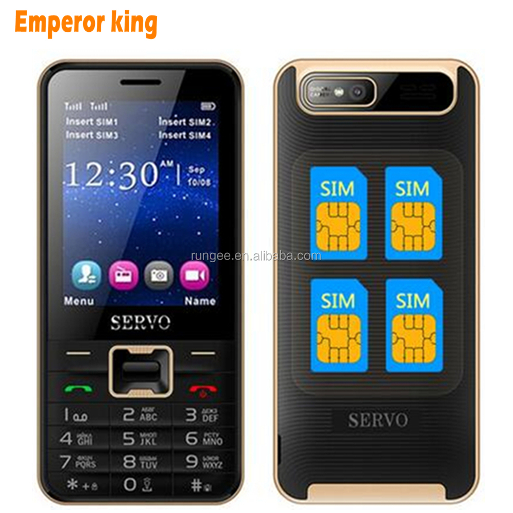 SERVO V8100 Quad Band 2.8 inch 4 SIM cards 4 standby mobile phone Quad SIM four SIM cards Flashlight MP3 GPRS cell phone
