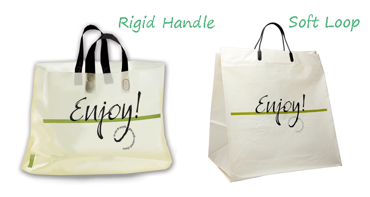 Convenient and easy carrying clothing gift polythene loop handle plastic bags
